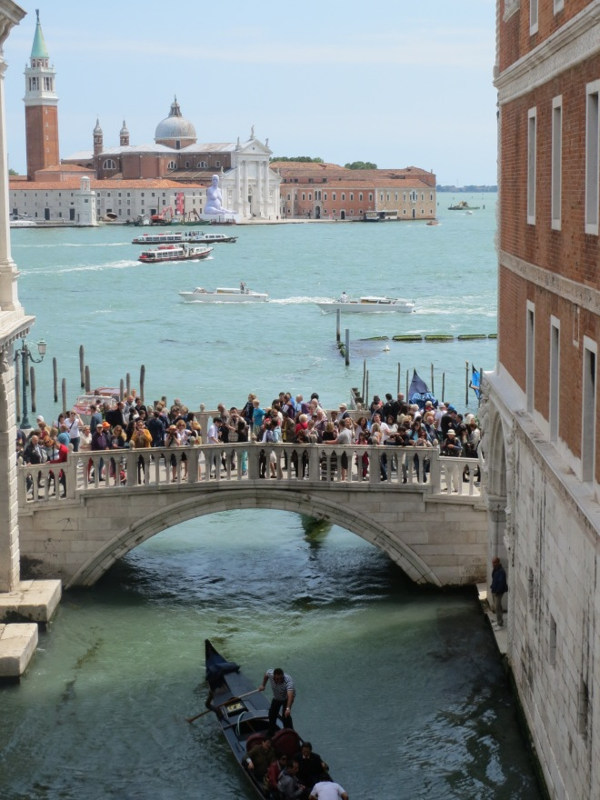 View from Bridge of Sighs in Doge's palace
